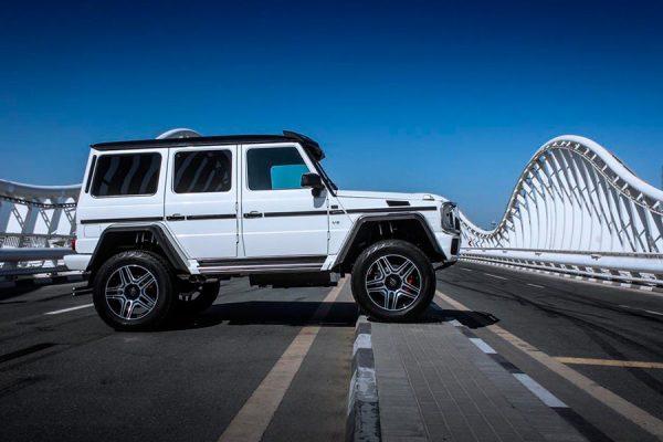 Hire Mercedes Benz G500 4×4 White 2